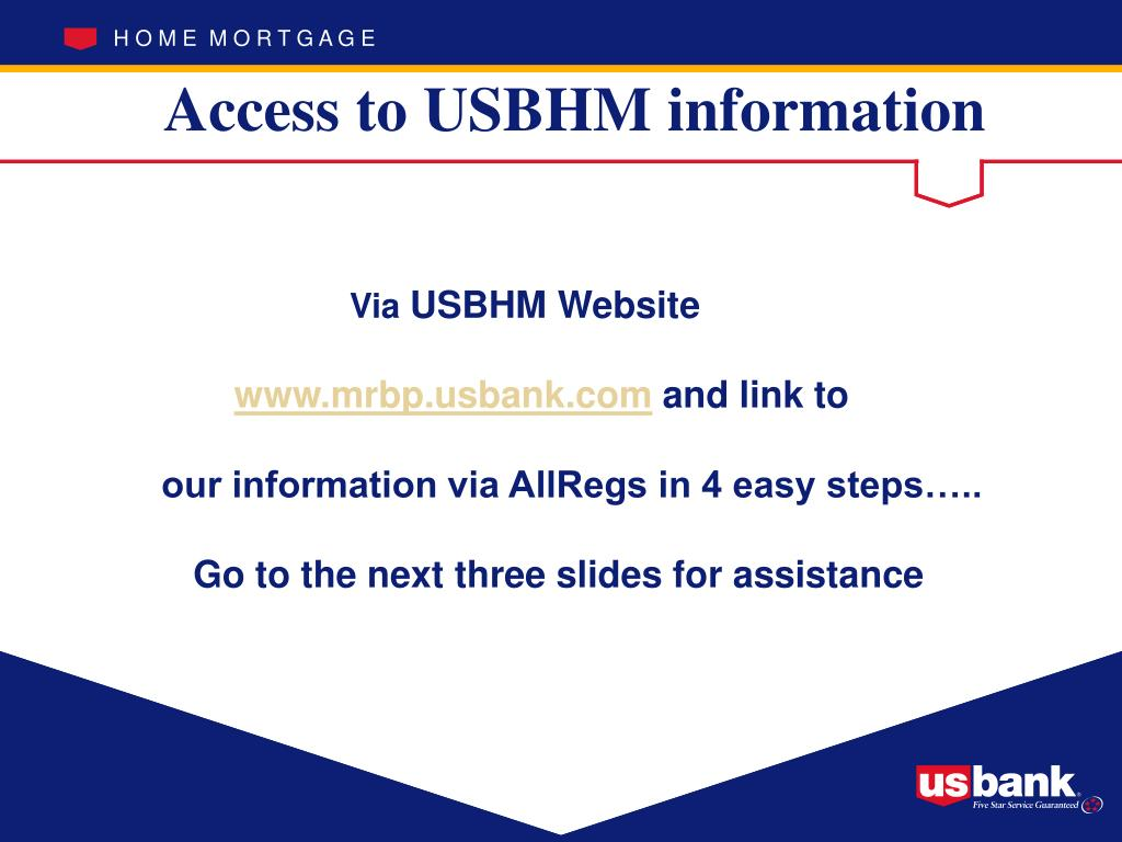 Access to USBHM information