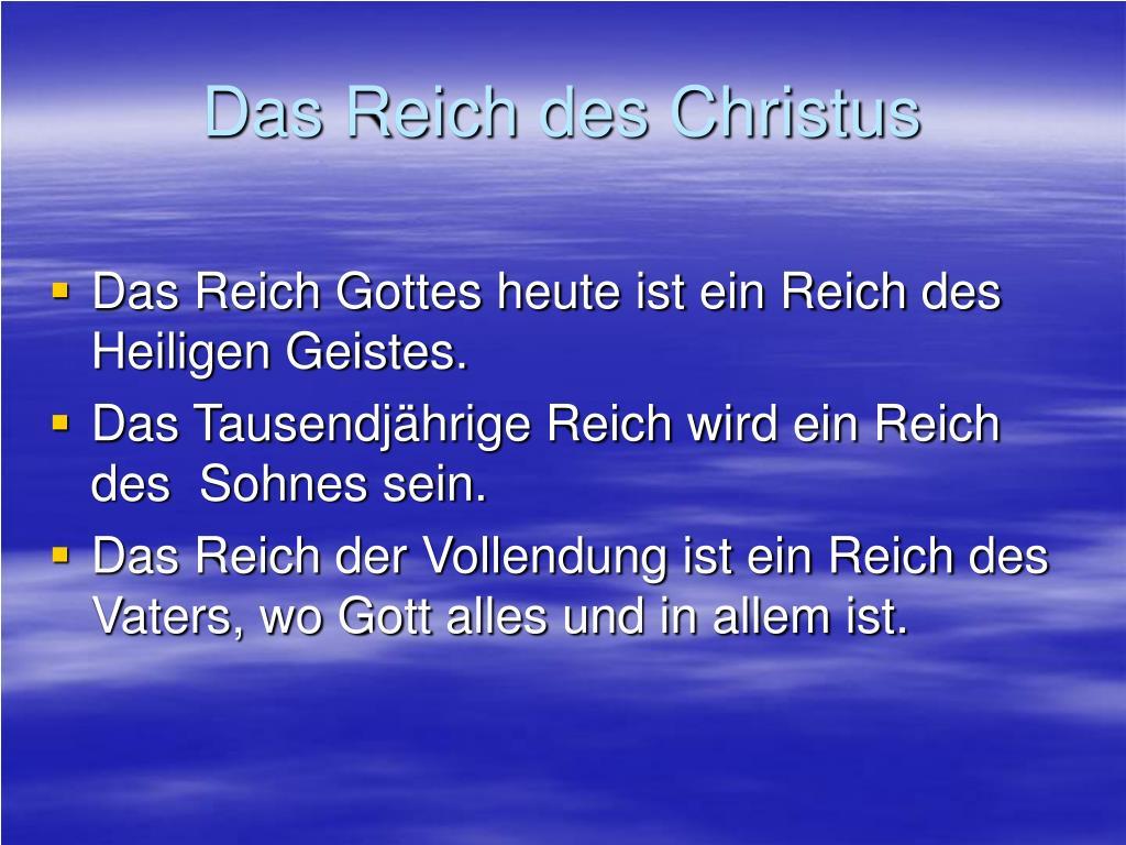 Das Reich des Christus