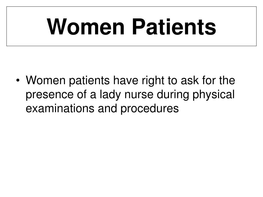 Women Patients
