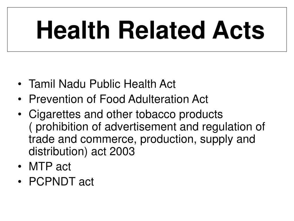Health Related Acts