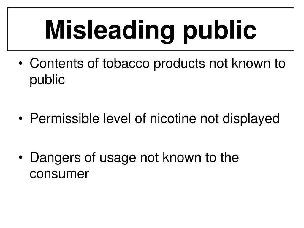 Misleading public
