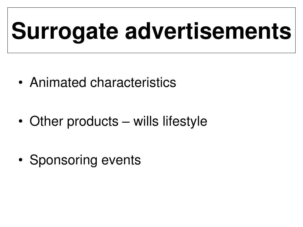 Surrogate advertisements