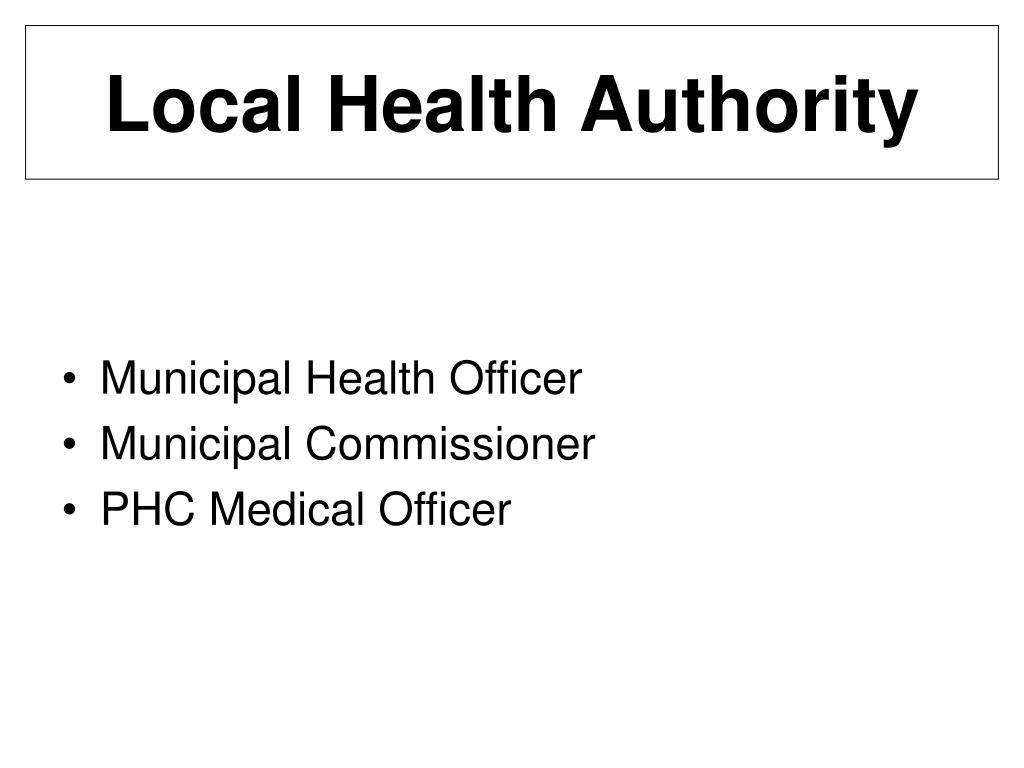 Local Health Authority