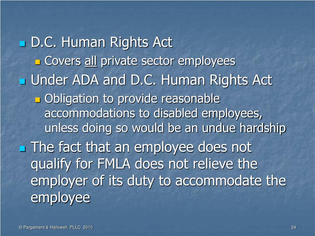 D.C. Human Rights Act