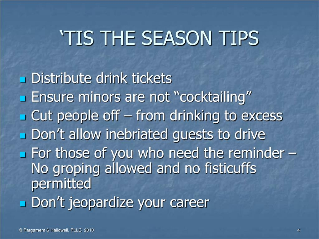 'TIS THE SEASON TIPS