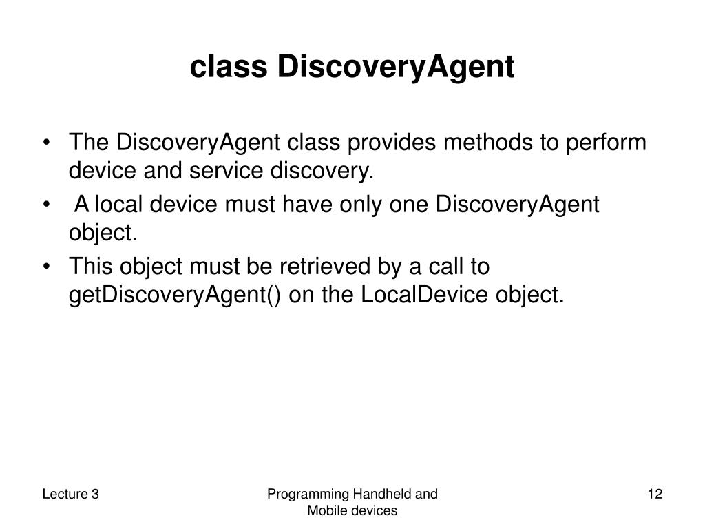class DiscoveryAgent