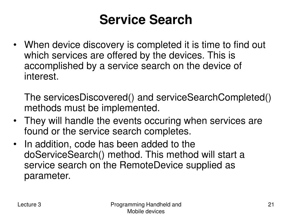 Service Search
