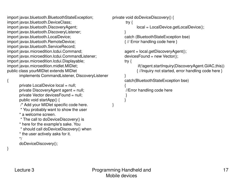 import javax.bluetooth.BluetoothStateException;