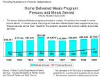 home delivered meals program persons and meals served fiscal years 1992 to 2000