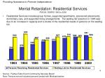 mental retardation residential services fiscal years 1993 to 2000