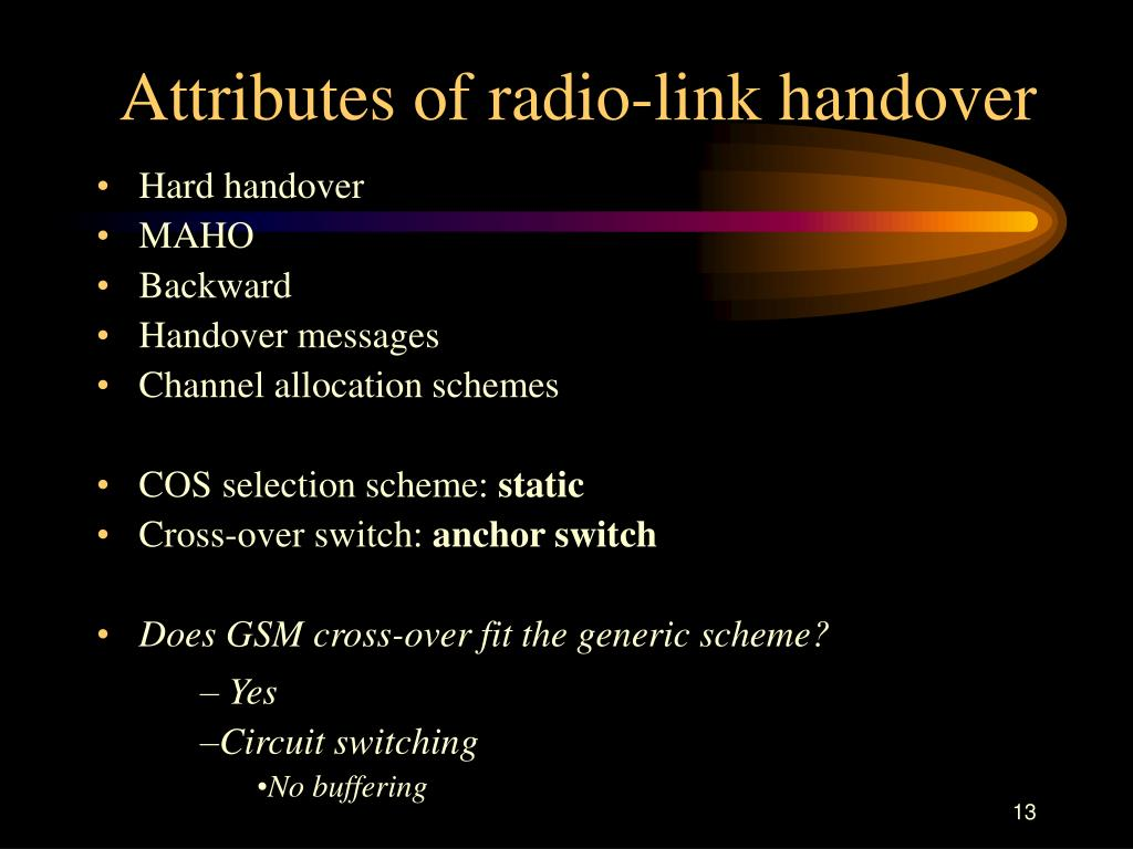 Attributes of radio-link handover