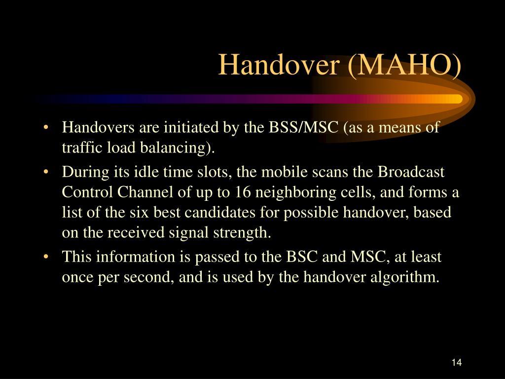 Handover (MAHO)