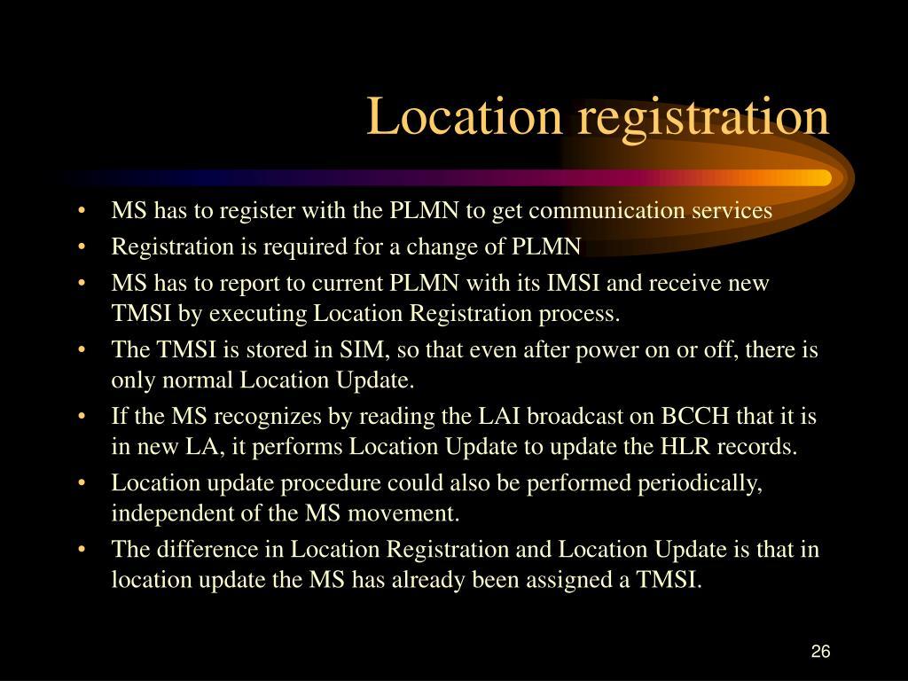 Location registration