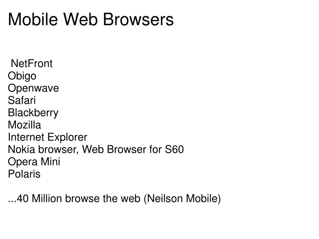 Mobile Web Browsers