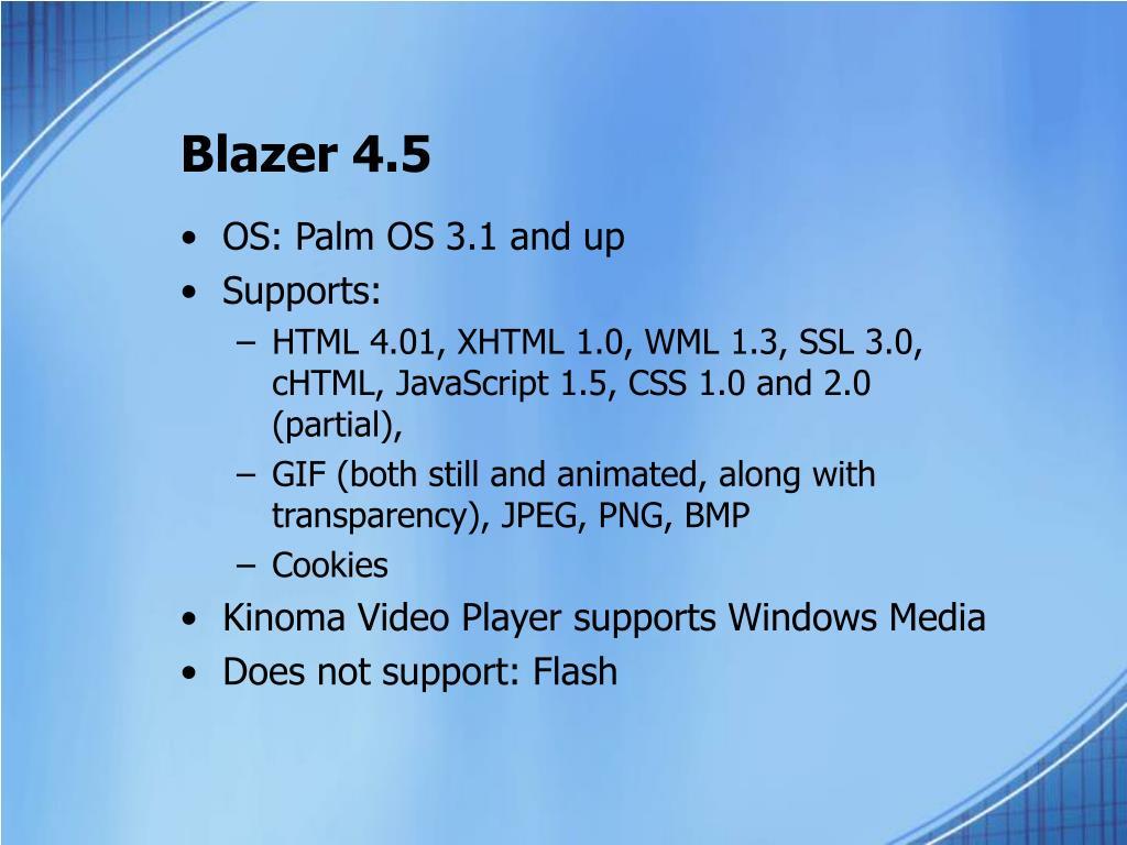 Blazer 4.5
