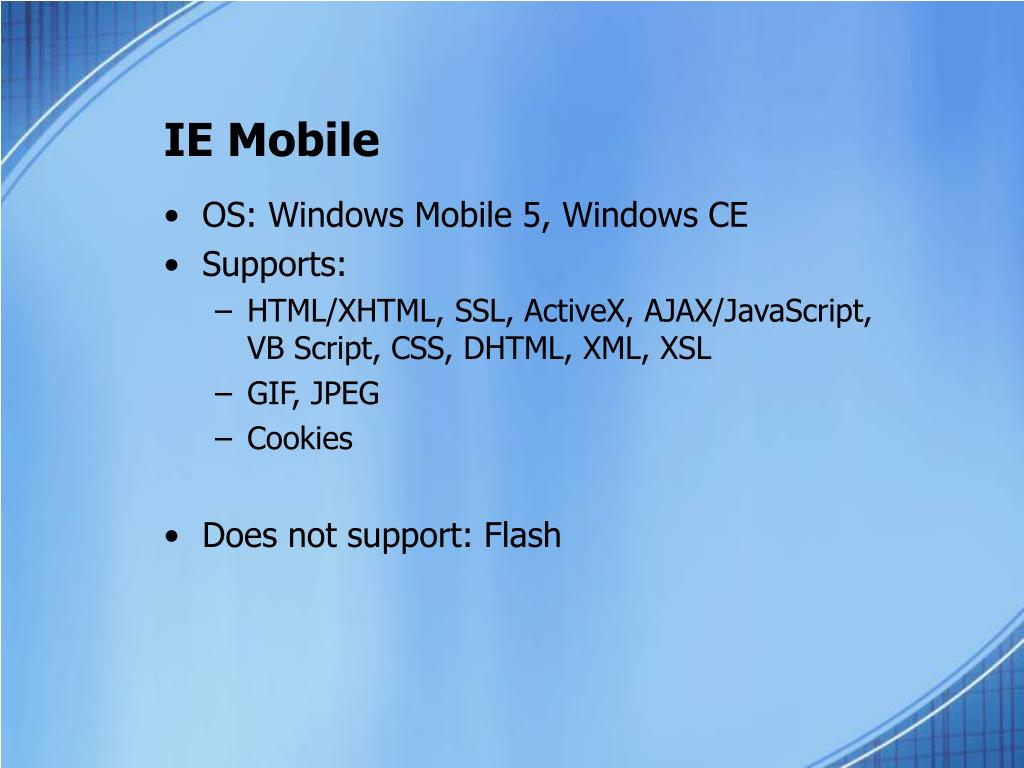 IE Mobile