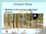 ambient wood