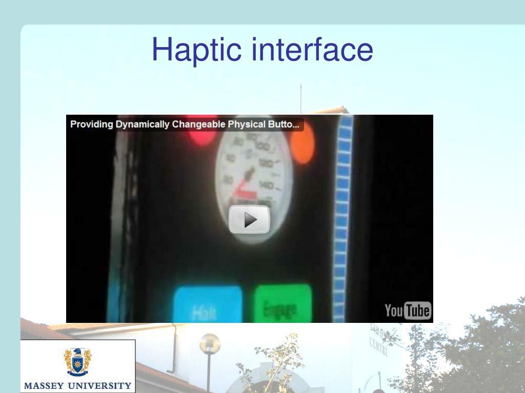 Haptic interface