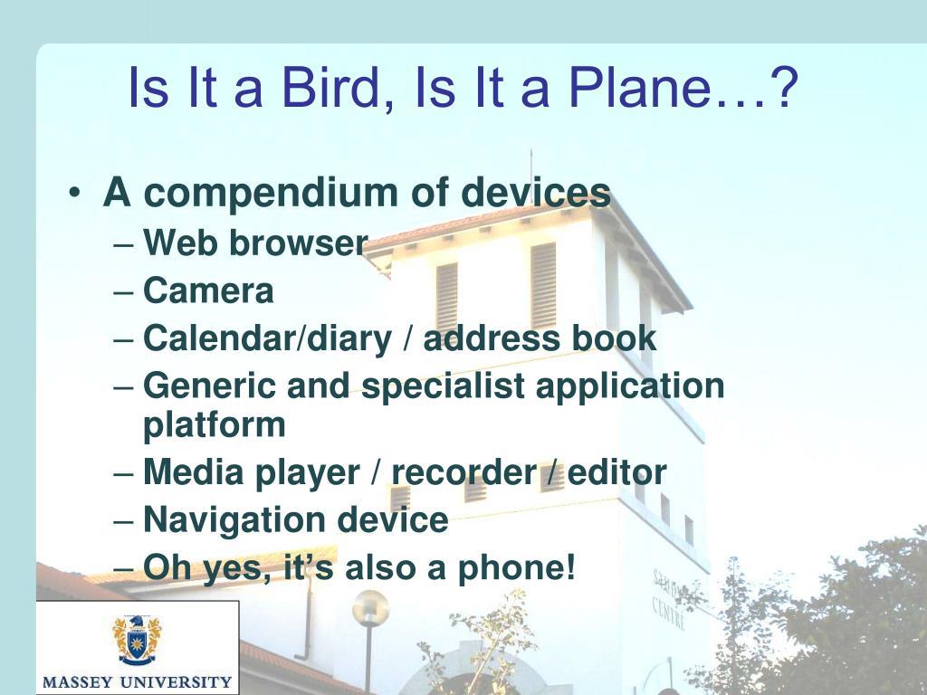 Is It a Bird, Is It a Plane…?