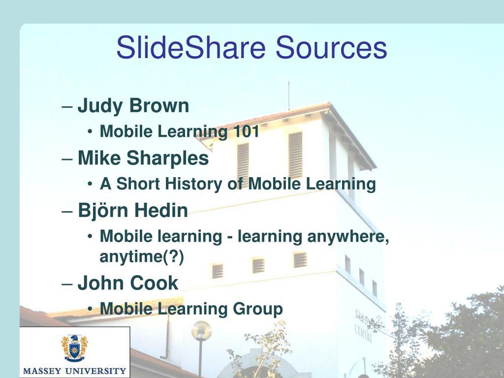 SlideShare Sources