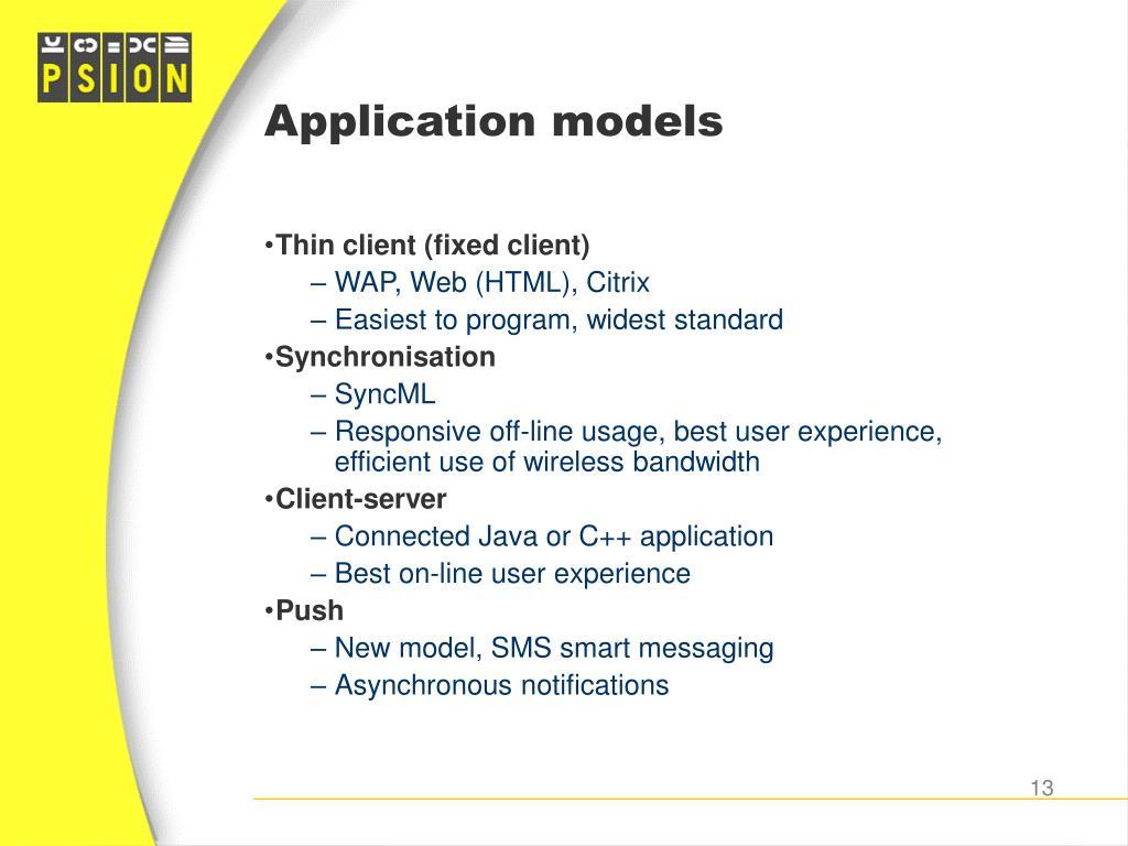 Application models
