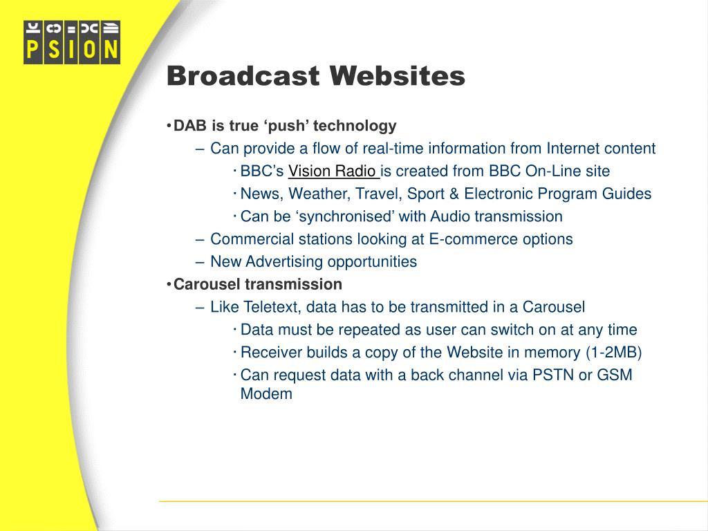 Broadcast Websites