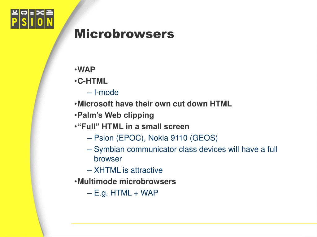 Microbrowsers