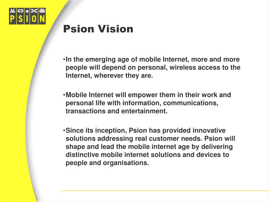Psion Vision