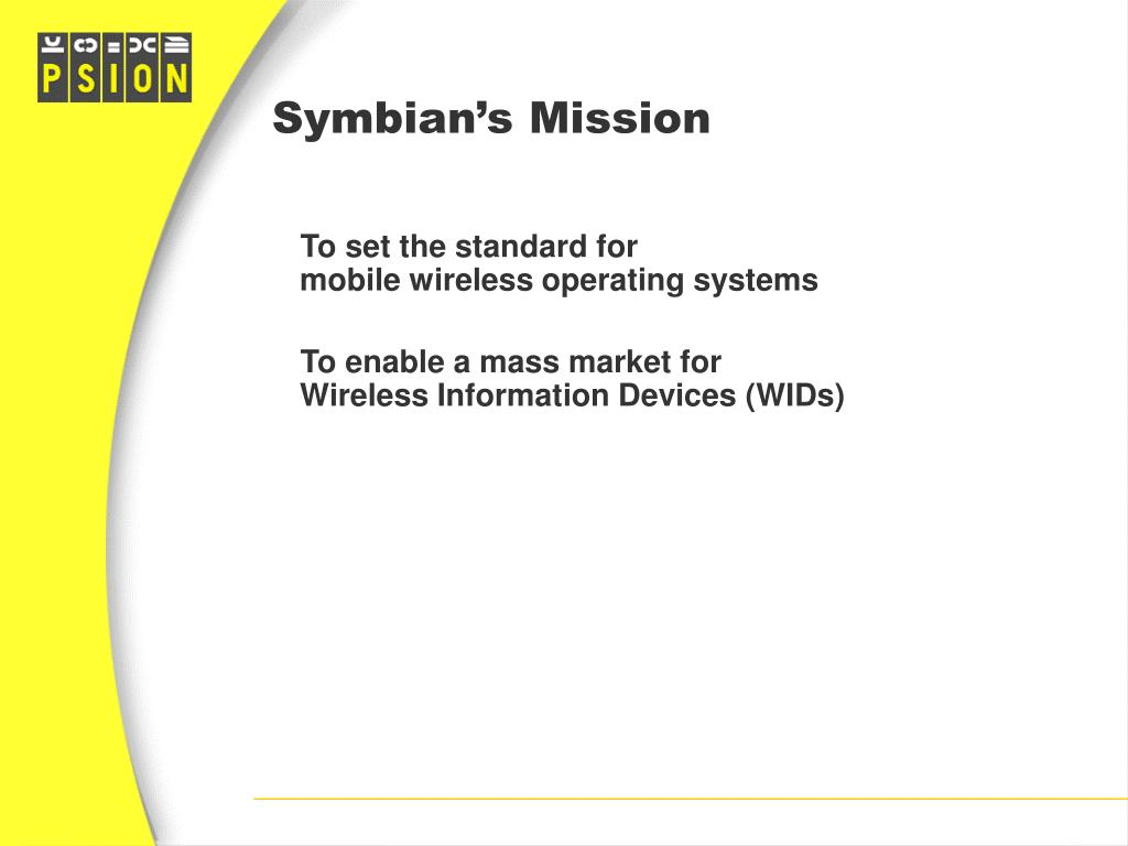 Symbian's Mission