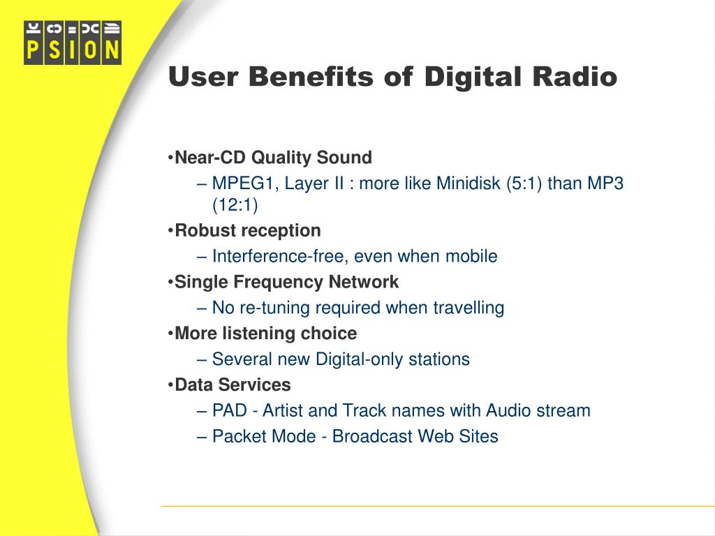 User Benefits of Digital Radio
