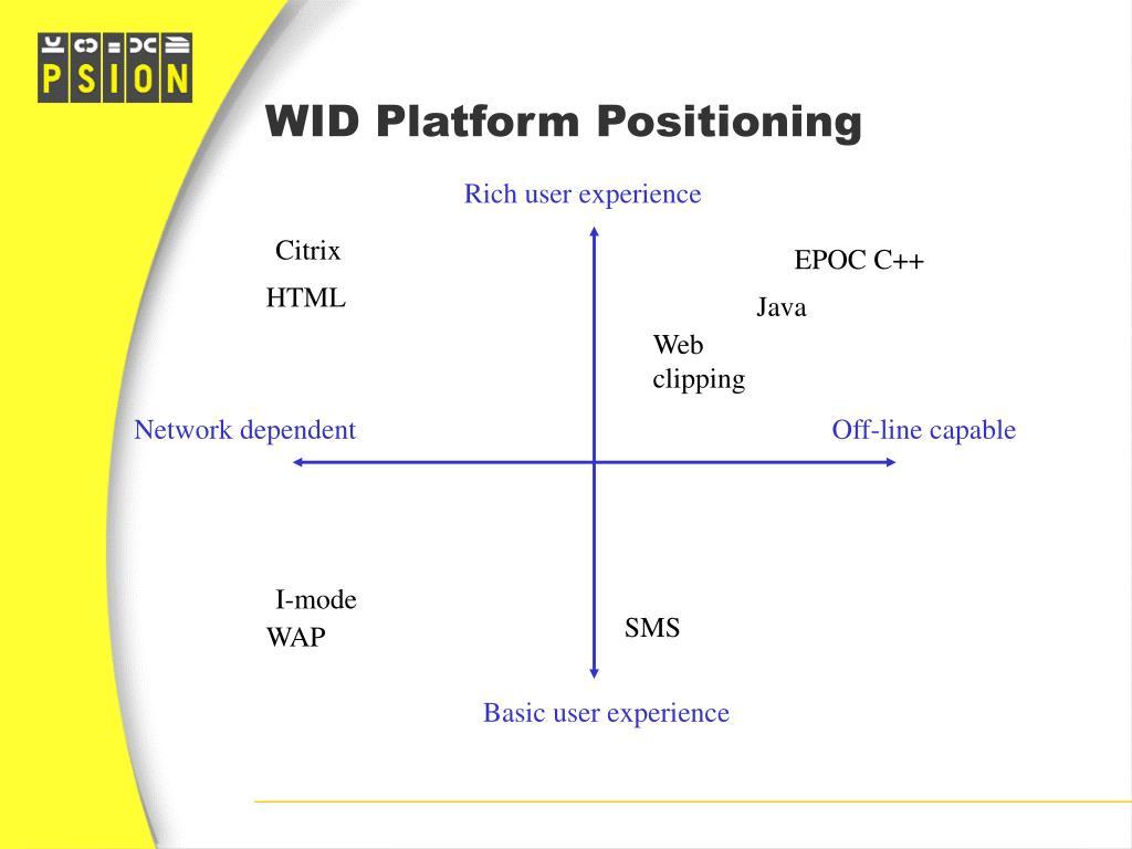 WID Platform Positioning