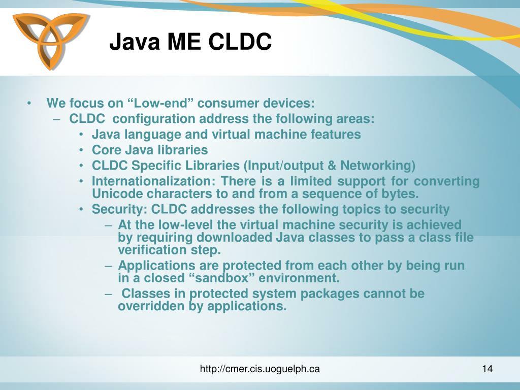 Java ME CLDC