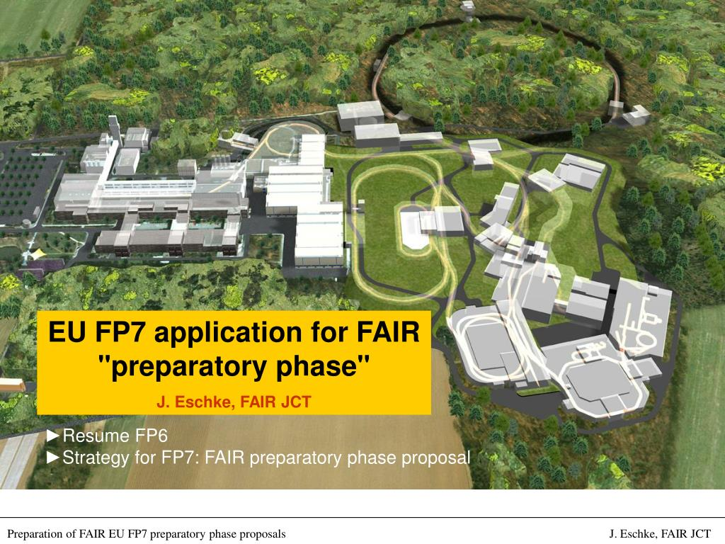 "EU FP7 application for FAIR ""preparatory phase"""