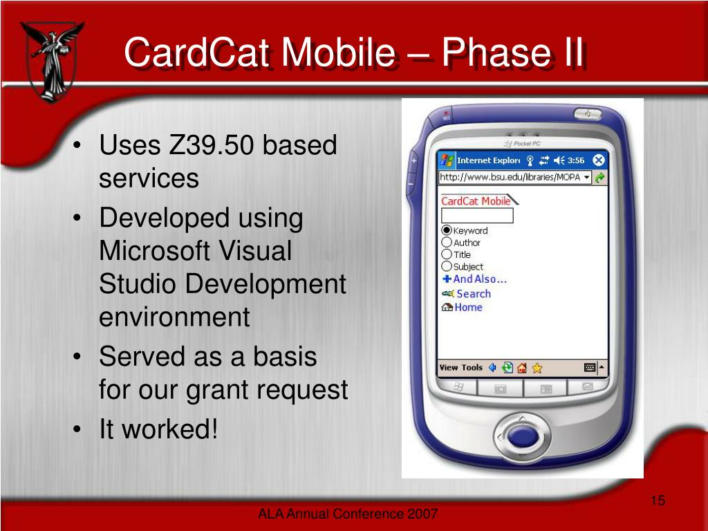 CardCat Mobile – Phase II
