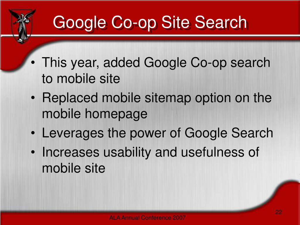 Google Co-op Site Search
