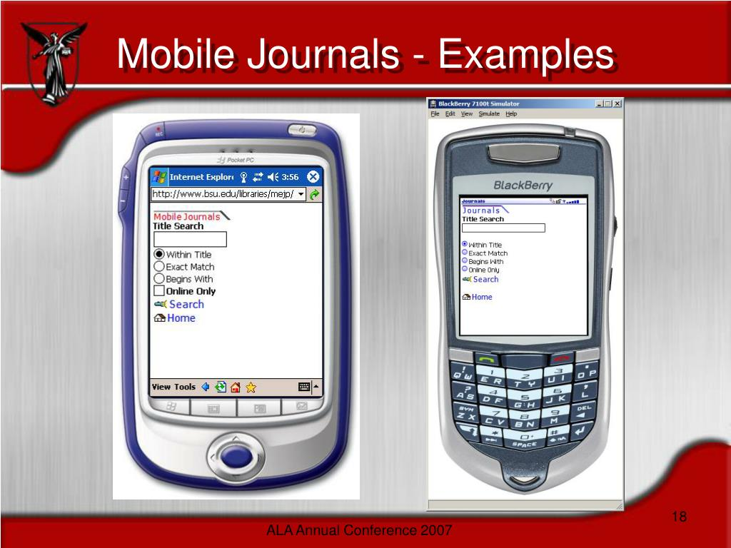 Mobile Journals - Examples