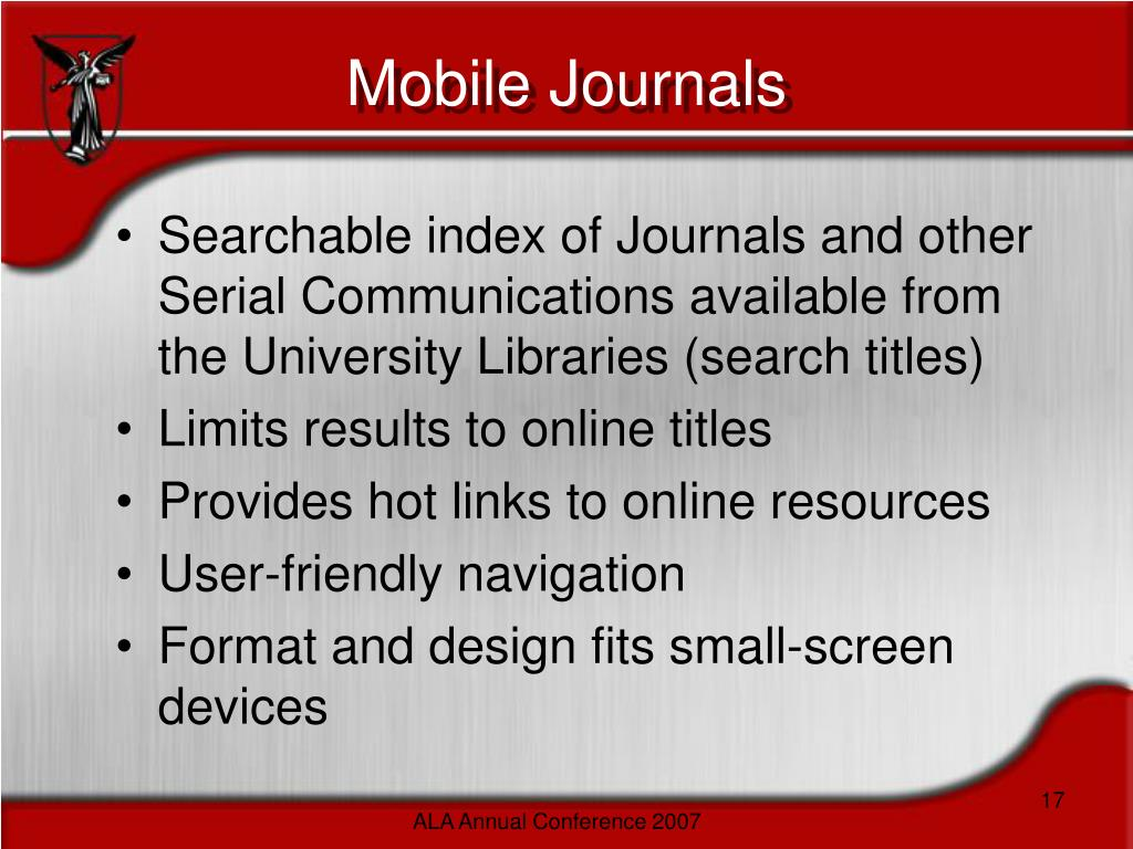 Mobile Journals