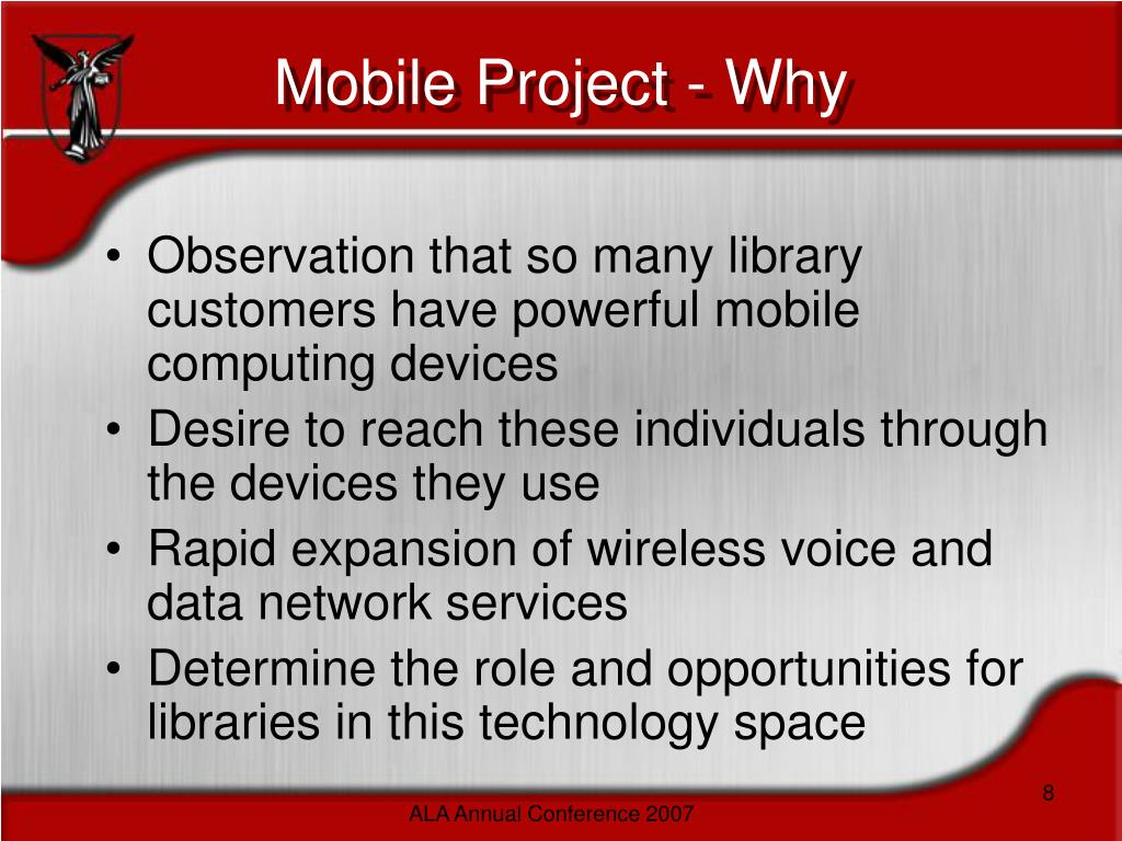 Mobile Project - Why