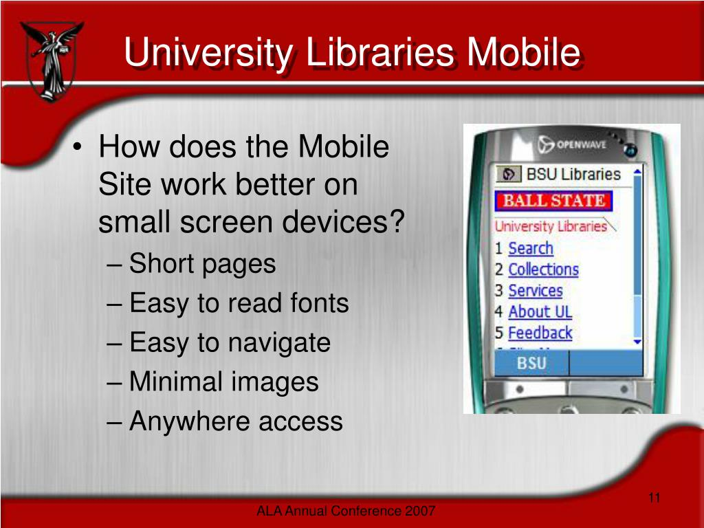 University Libraries Mobile
