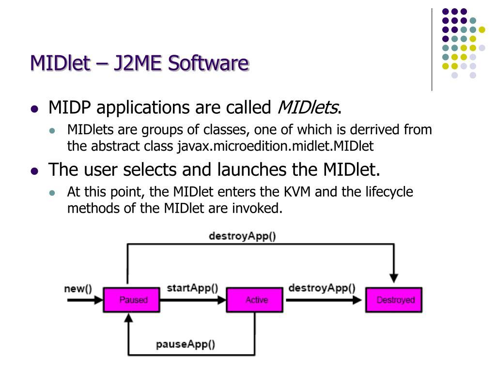 MIDlet – J2ME Software