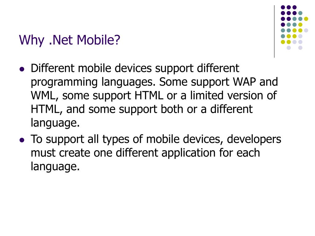 Why .Net Mobile?