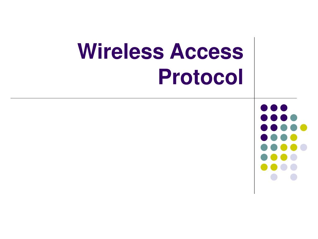 Wireless Access Protocol