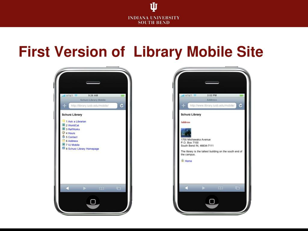 First Version of  Library Mobile Site