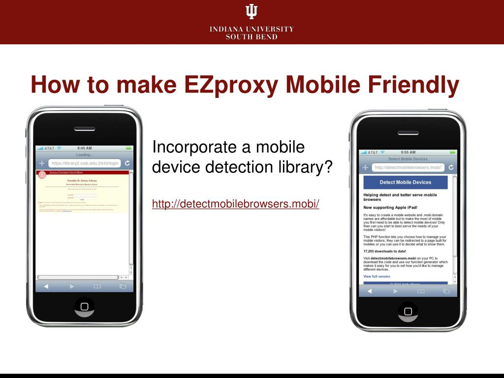 How to make EZproxy Mobile Friendly