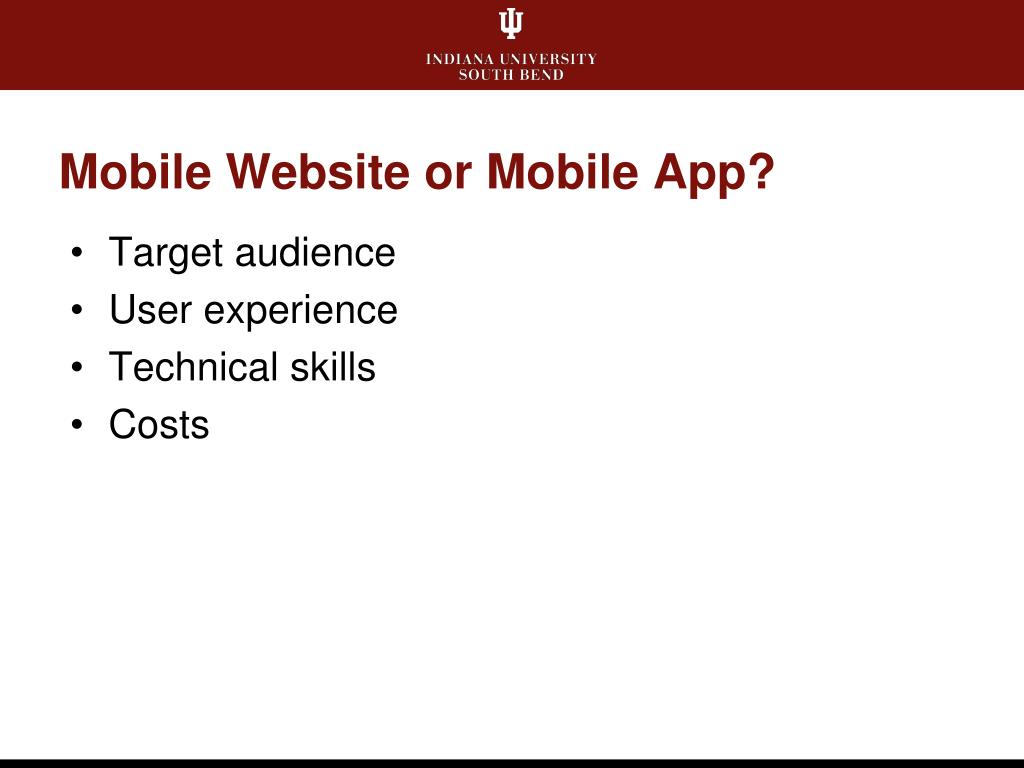 Mobile Website or Mobile App?