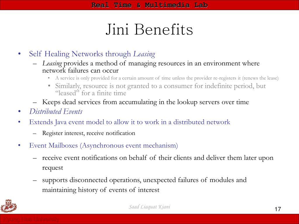 Jini Benefits