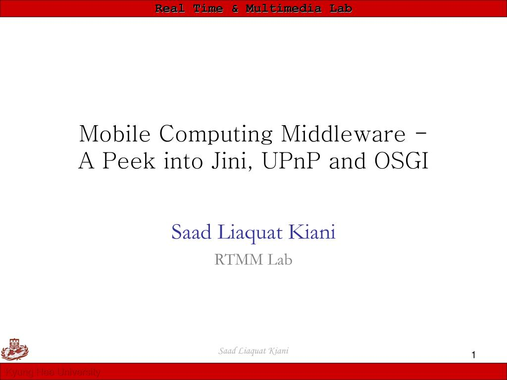 Mobile Computing Middleware -
