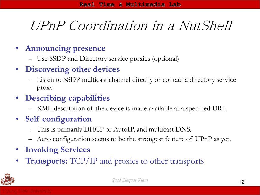 UPnP Coordination in a NutShell