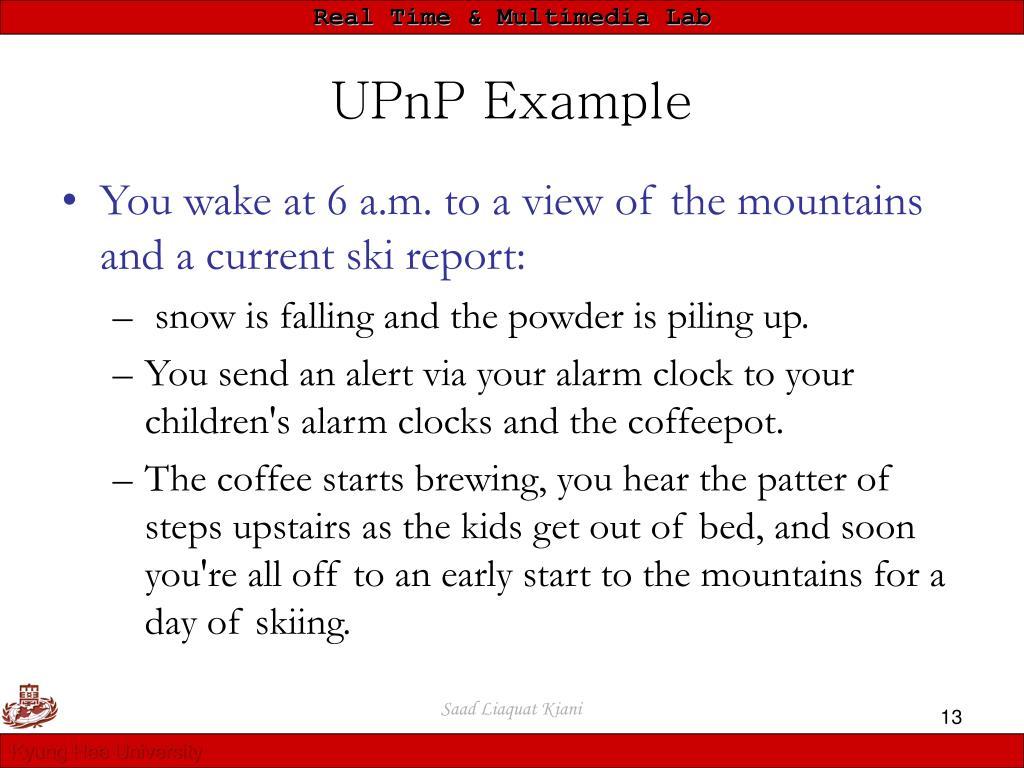UPnP Example