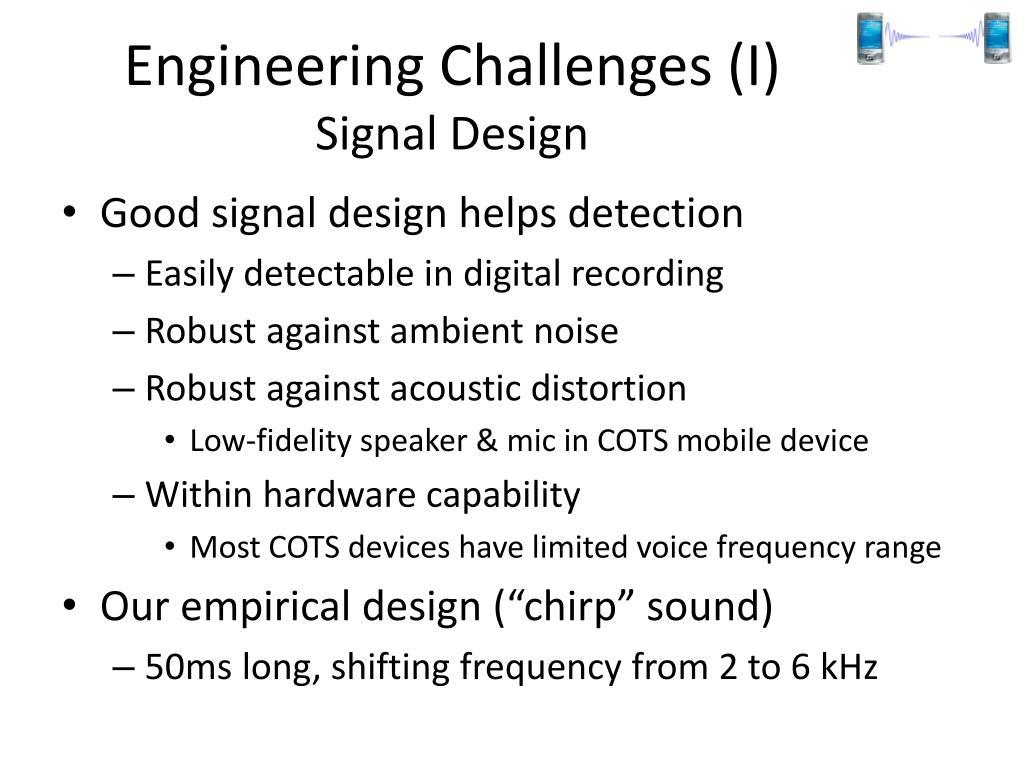 Engineering Challenges (I)